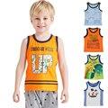 JMBEAR boys T-Shirts kids clothes Children girls Vest Cotton shorts Casual Sleeveless kids Sport  2016 Summer