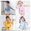 V-tree romper do bebê animais bonitos macacão pp crianças trajes para meninos das meninas do bebê pijama