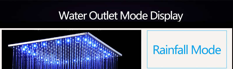 Multi Function Led Shower Heads 20\'\' Ceiling Rain SUS304 Mirror Rainfall & SPA Mist Massage Different Options & Light Big Shower (1)