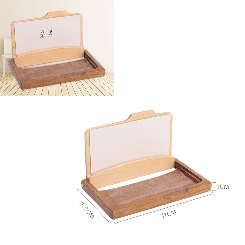 Vintage wooden business card storage box id credit cards holder case vintage wooden business card storage box id credit cards holder case organization desktop decoration home office supplies za3194 in home office storage from reheart Images