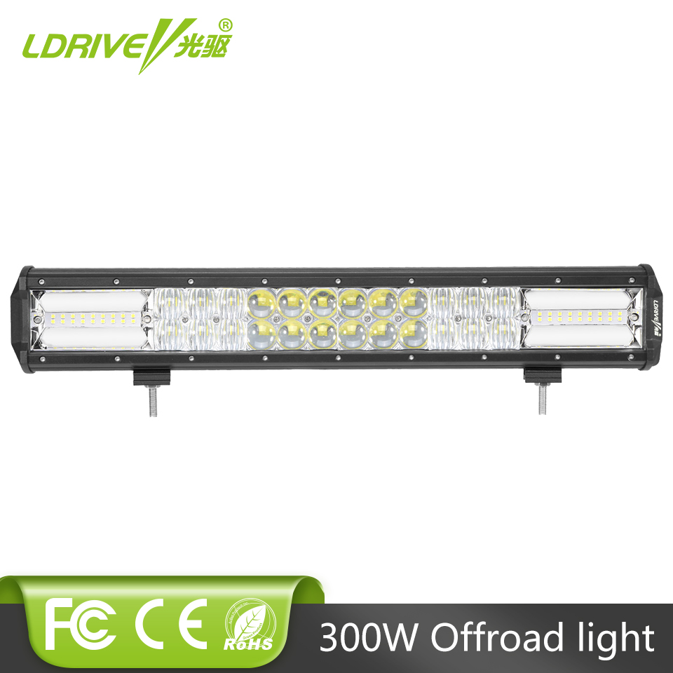 LDRIVE 19 300W LED Light Bar 12V 24V 5D Offroad LED Combo Beam For Truck ATV Camper Van 4X4 4WD SUV Driving Headlight Fog Lamp 390w 36 offroad led light bar 12v 24v combo car truck wagon atv suv pickup camper 4wd 4x4 tractor auto driving lamp headlight href page href