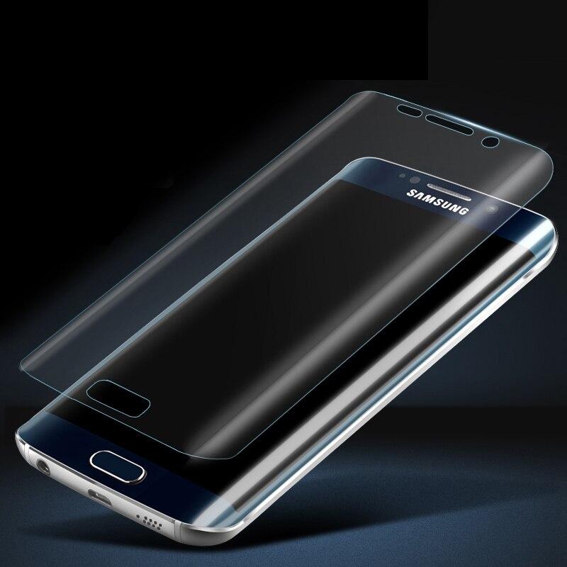 ¡Venta caliente! Cristal Claro 3D curva protector de pantalla película para Samsung Galaxy S7 Borde de vuelta (no temperamento vidrio)