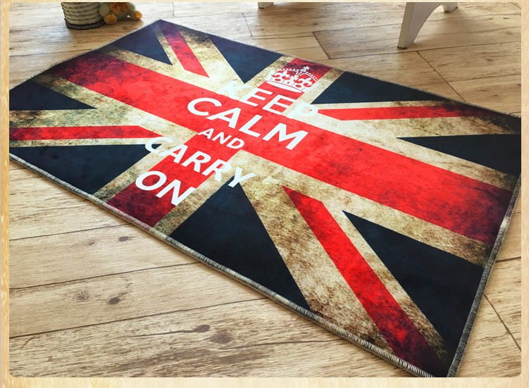 Newest Britain Flag Kitchen Mat Machine Made Bedroom Carpet Elegant Floor Rugs Various Sizes