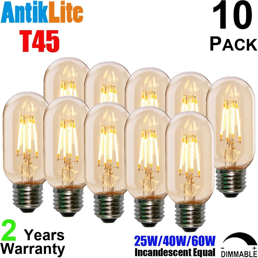 20W 40W 60W 80W Incandescent Equal T45 E27 2200 Kelvin Sunset Warm White Antique Edison Style Vintage LED Filament Bulb T14 E26 g95 e27 25 40 60 75 watt w 25w 40w 60w 75w incandescent equal g30 e26 silver cap chrome tip led filament bulb 4 6 8 w 4w 6w 8w