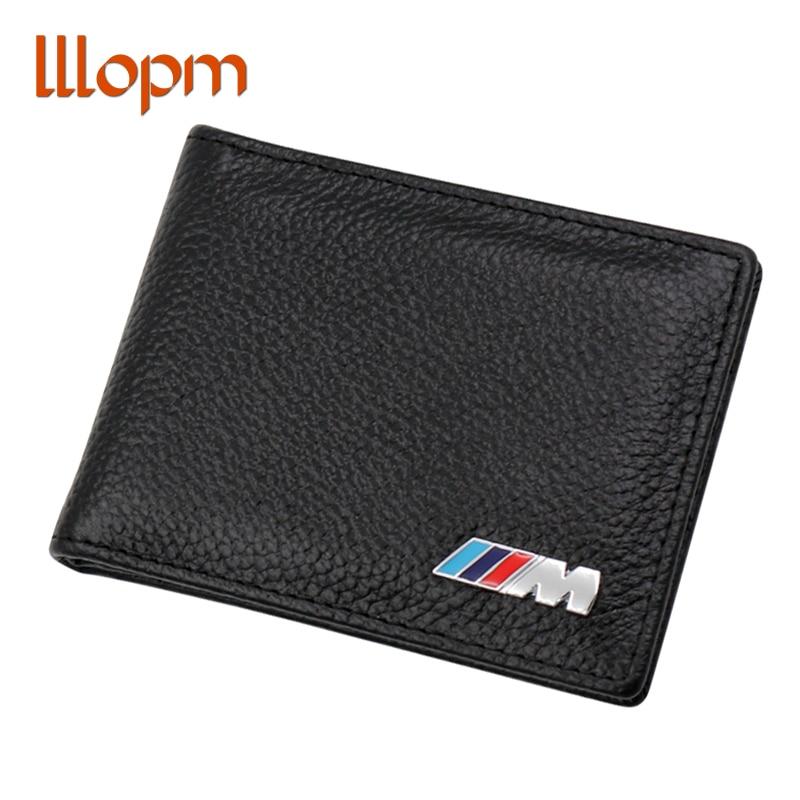 Genuine Leather Car Drivers License Holder Bag M Credit Card Case for BMW E60 E90 F10 E64 E65 E91 E92 F10 F15 F30 X1 X3 X5 X6 etya bank credit card holder card cover