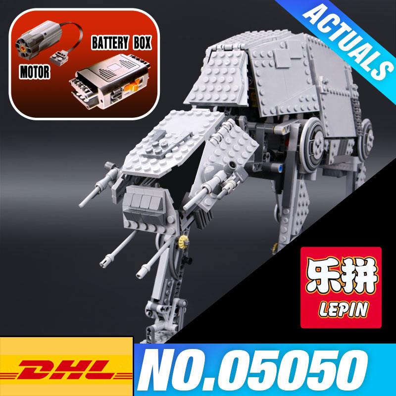 LEPIN 05050 Star-Wars 1137pcs AT the Robot AT Model Building blocks Brick Classic 05130 Compatible 75054 Educational Boy's Gift конструктор lepin star plan бронированный шагоход at at 1137 дет 05050