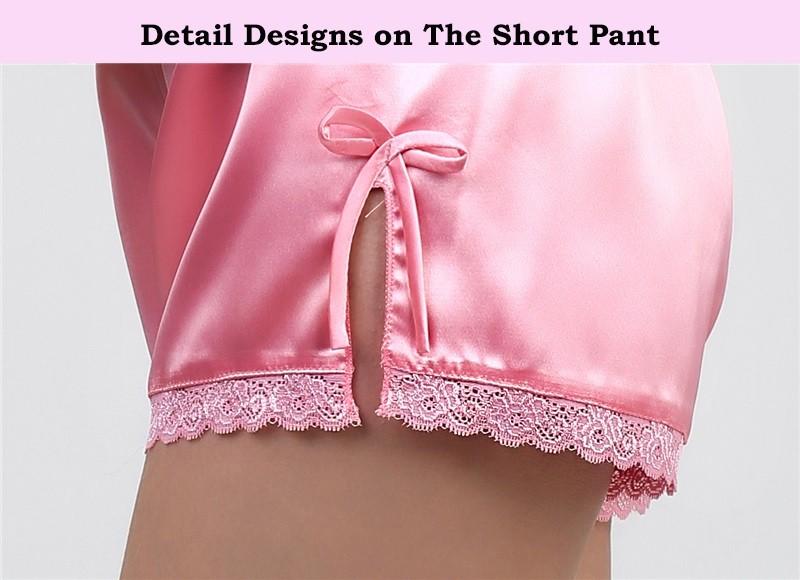HTB1YwIiLFXXXXcnaXXXq6xXFXXXG - Solid Satin Chiffon Women Pajama Sets Spring Summer Night dress PTC  157