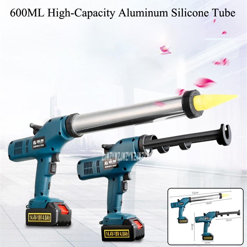 New FUJ-DJQ-001 Lithium Battery Both Sausage and Cartridge Sealant Use Electric Glass Glue Gun 14-18V 4.0Ah 6000N Caulking Gun цена