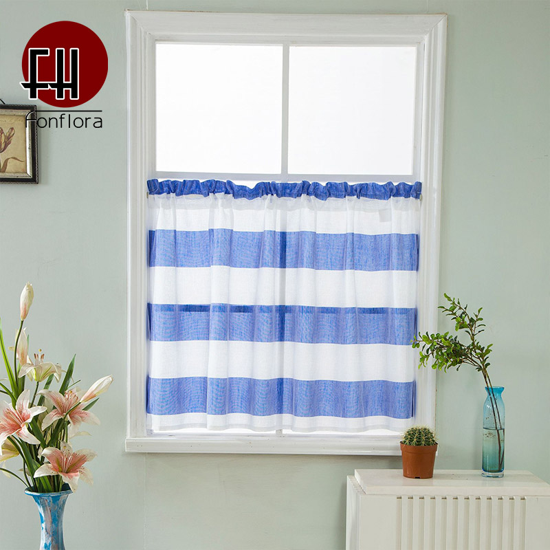 blue striped tulle curtains for kitchen short curtains for living room grey voile valance sheer