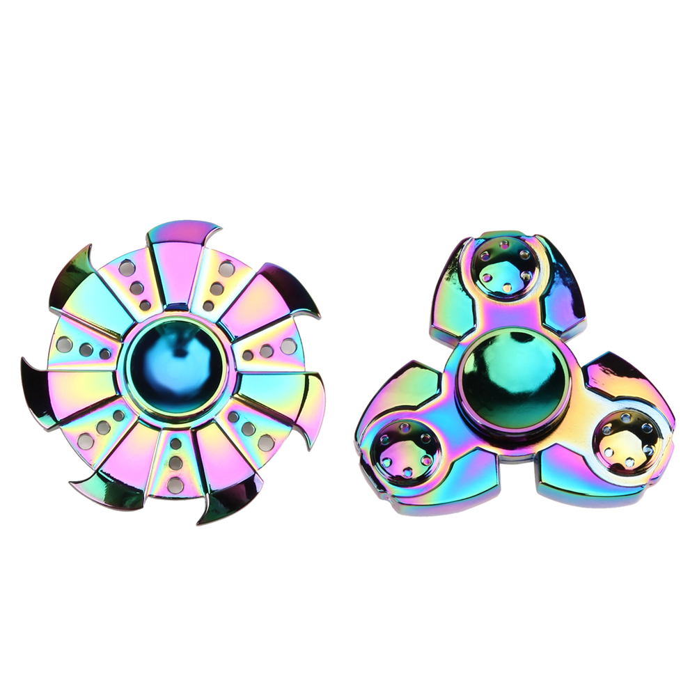 Colorful Tri Spinner Fidget Toy Hand Spinner Rotation For Autism and ADHD Kids Adult Funny Anti