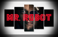 9153 mr robot full hd Poster Framed Gallery wrap art print home wall decor wall picture