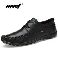Genuine Leather Men Flats Shoes Lace Up Men Mocassin Two Style Men Shoes S Handmade Men