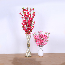 Xuanxiaotong 1pcs Silk Fabric Long Plum Blossom Flowers Branches for Home Wedding Decoration Artificial Tree Decor