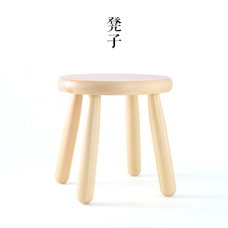Mingei Solid Wood Stool Children Stool Practical Home Skid Benches Stool Stool Fashion Parlor Small Bench