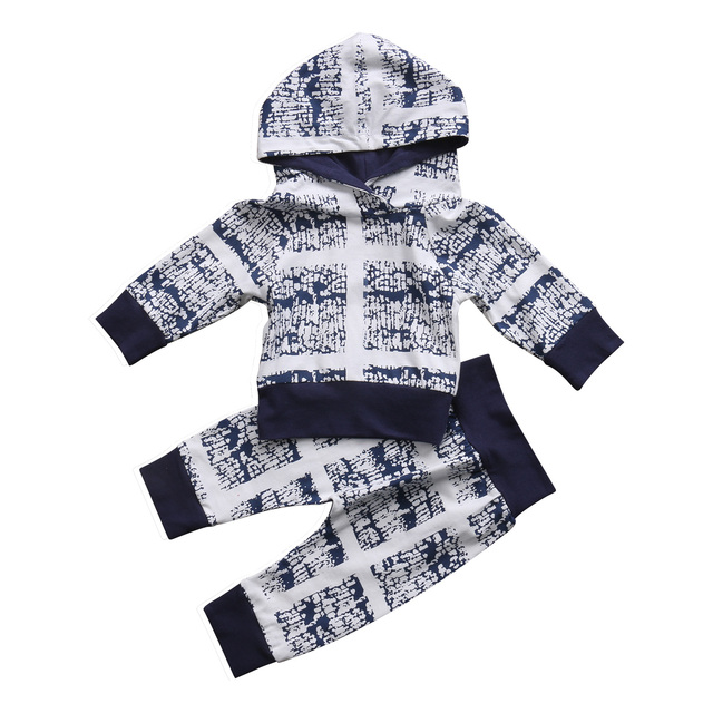 4e1b968b2e88 0 24M Autumn baby clothes set Newborn Baby Kids Boys Clothes Hooded ...