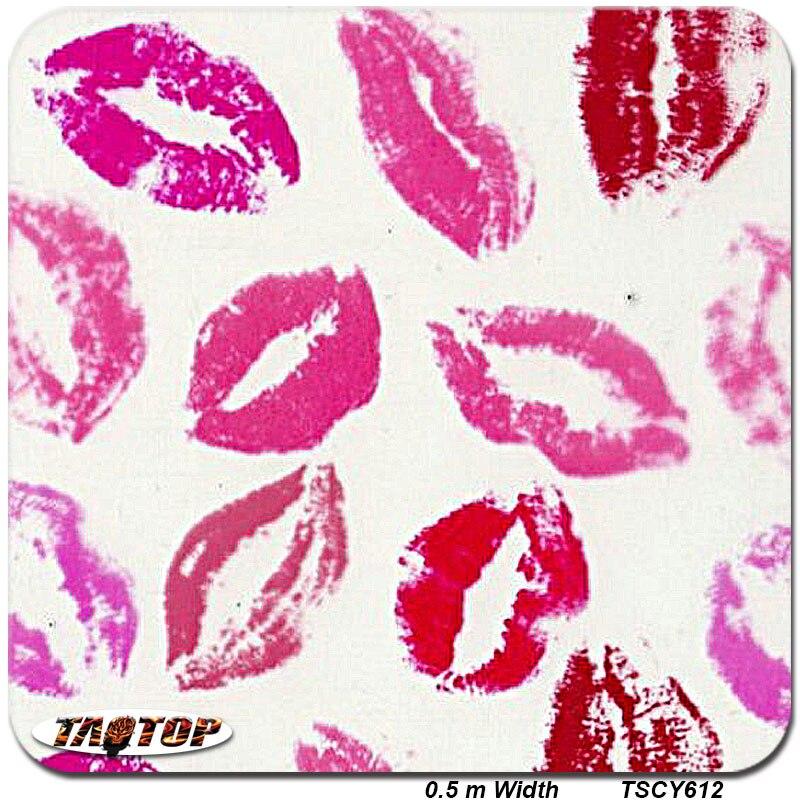 TSCY612 0.5m *2M Popular Red Sexy Lips Pva Water Transfer Printing Film  Hydrographic Film  Hydro Dipping Film
