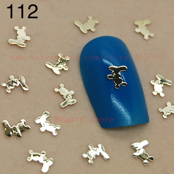 Купить с кэшбэком 800pcs/bag Gold Square Anchor Bowknot Sequins Nail Art Rhinestones Decorations Tips 92-94 112#