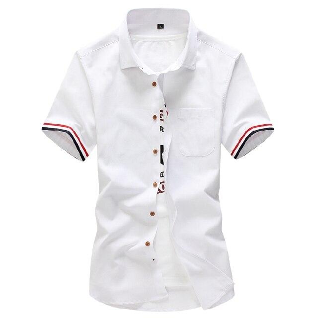 HCXY 2016 Marca de Moda Para Hombre de Manga Corta de Los Hombres Camisa Masculina Ocasional Delgado Camisas de Vestir Para Hombre Chemise Homme