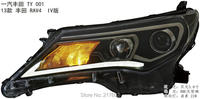Car styling auto front head lamps for Toyota RAV4 Headlights 2013 2015 year H7 hid bi xenon projector lens low beam LD