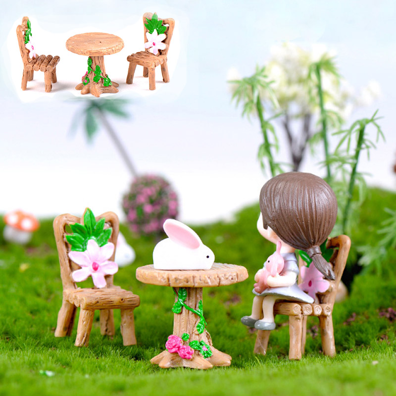 Home Decor Figurines & Miniatures Well-Educated 1pc Creative Ornament Fairy Garden Terrarium Miniature Figurine Animals Holding Umbrella Moss Micro Landscape Resin Craft