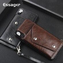Кожаный чехол-кошелек Essager для iPhone XS Max XR X S R 8 7 6 6S Plus, Роскошный чехол для телефона для iPhone Xsmax 8Plus 7 Plus, чехол