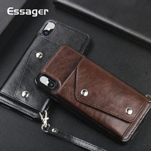 Essager Leather Wallet Case For iPhone XS Max XR X S R 8 7 6 6S Plus Cover Luxury Phone Case For iPhone Xsmax 8Plus 7Plus Coque