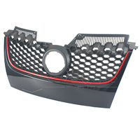 Black Main Upper Hex Mesh Bumper Center Grill Grilles For VW MK5 Jetta 2006 2007 2008