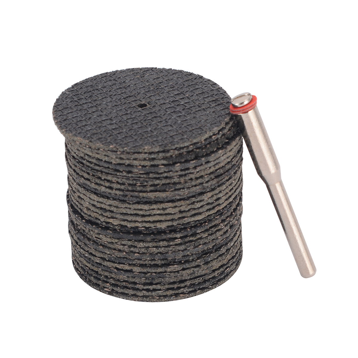 25pcs 32mm Resin Cutting Wheel Cut-off Discs Set 2mm Diameter With Connection Rod For Rotary Tools