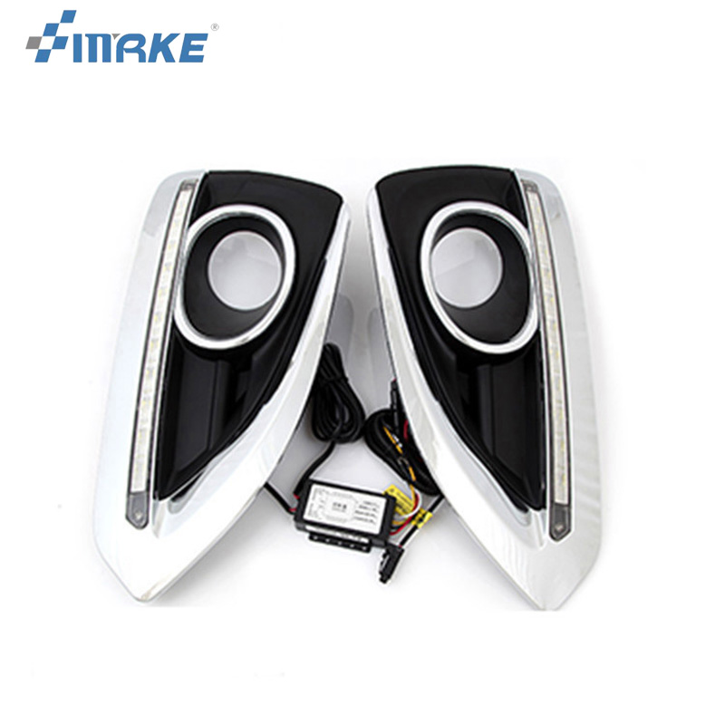 smRKE 2pcs For Peugeot 3008 High quality Car styling New LED DRL Car-special LED Daytime Running Light hot sale a bouquet of sweet room decoration simulation silk lotus leaf