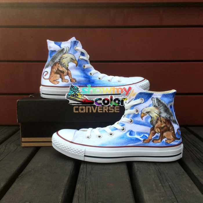 Anime Attack On Titan Design Converse All Star Shoes Custom Wings