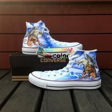 Converse All Star Woman Man Shoes Gryphon Design Hand Painted Sneakers Men Women High Top Skateboarding Shoes