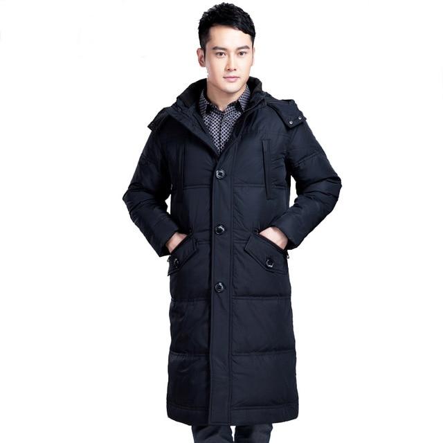 Novas arrivials design da marca ocasional dos homens casaco de inverno quente longo pato branco para baixo grossa jaqueta 5xl plus size chaquetas hombre T625