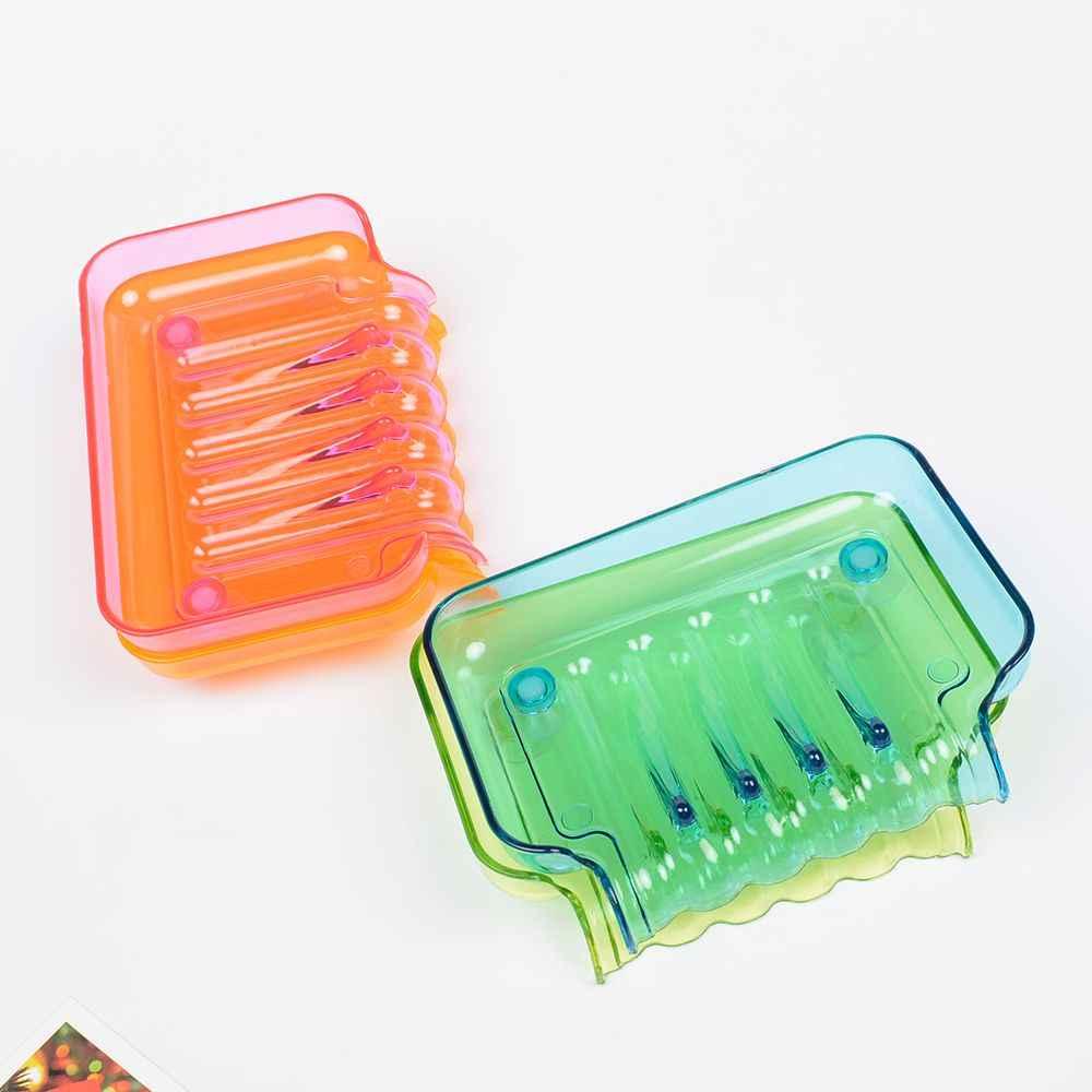 Mydelniczka mydelniczka prysznicowa ssania mydło taca uchwyt spustowy wodospad w kształcie cukierki kolor akcesoria łazienkowe