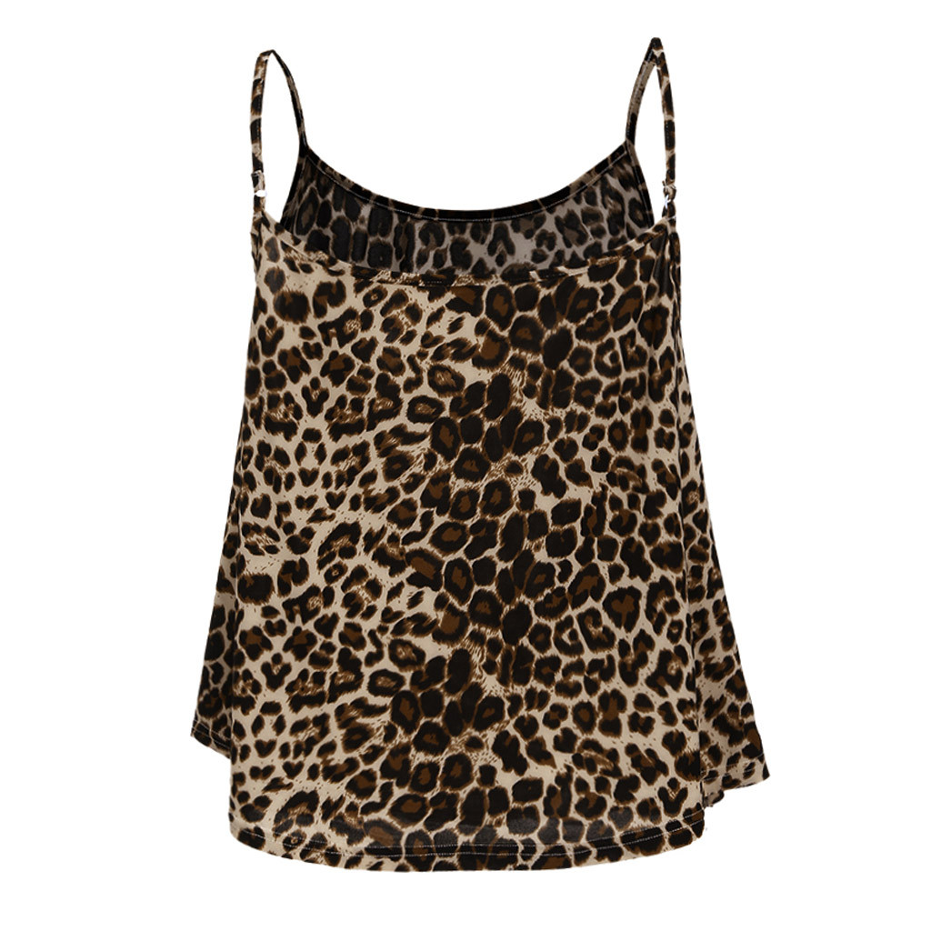 100% Wahr Frauen Sexy Spaghetti Strap V-ausschnitt Leopard Print Leibchen Tank Weste Damen Sommer Mode Spitze Cami Crop Tops Feminino Hindernis Entfernen