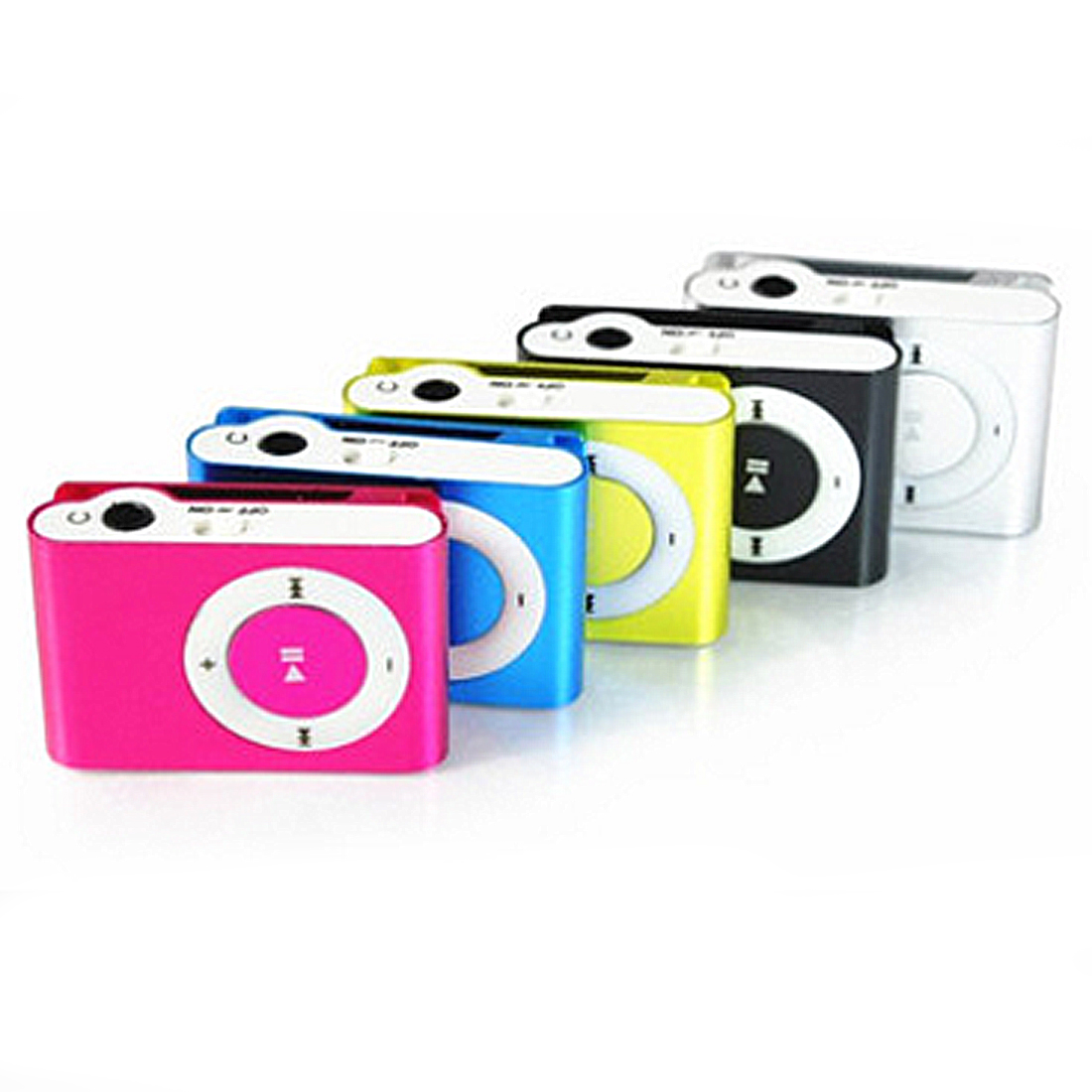NEW Hot Sale 8 Candy Colors Mirror Portable MP3 Player Mini Clip MP3 Player Waterproof Sport Mp3 Music Walkman With TF Slot