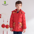 2016 Baby Boys Winter Coats Jackets Chinese Red Printing White Duck Down Parkas Long Brand Hooded Children Clothes Kids Clothing