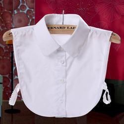 CC. AMILY дамы для женщин взрослых Съемная рубашка с лацканами Поддельные Воротник модные однотонные Ложные блузка шейный