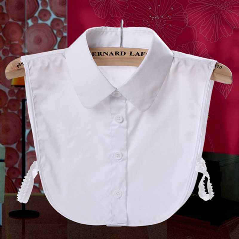 女性大人取り外し可能なラペルシャツ偽の襟のファッション無地偽ブラウスネックウェアー衣類付属品