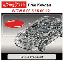 Original WOW 5.00.12 / WOW 5.00.8 With Free Keygen For TCS CDP Pro Multidiag Pro+ MVD Professional WOW Snooper For Cars Trucks(China)