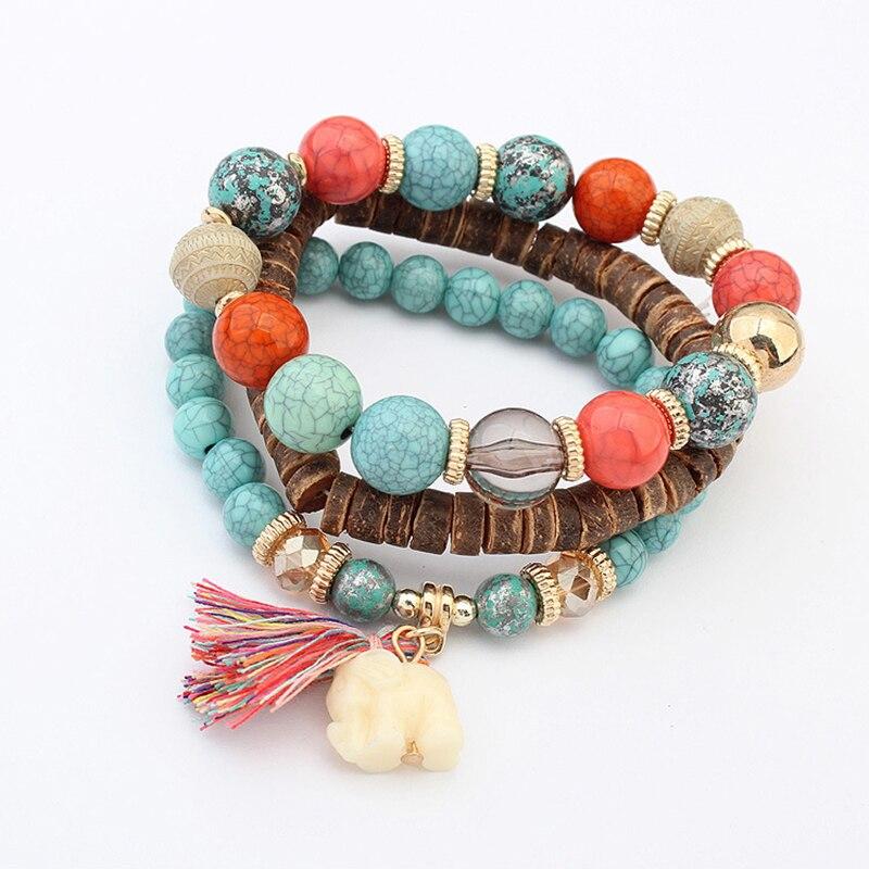 CHENFAN Wood mens bracelet women Bell pendant for Women jewelry  friendship bracelets