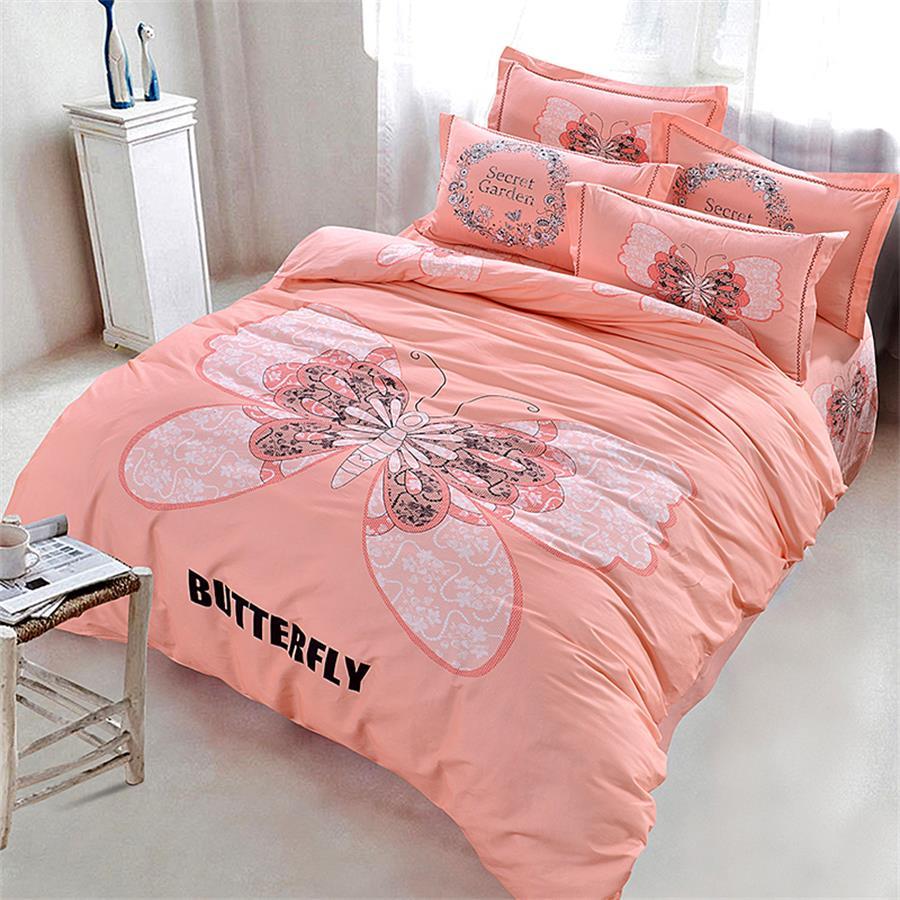 online kaufen gro handel rosa schmetterling bettw sche aus china rosa schmetterling bettw sche. Black Bedroom Furniture Sets. Home Design Ideas