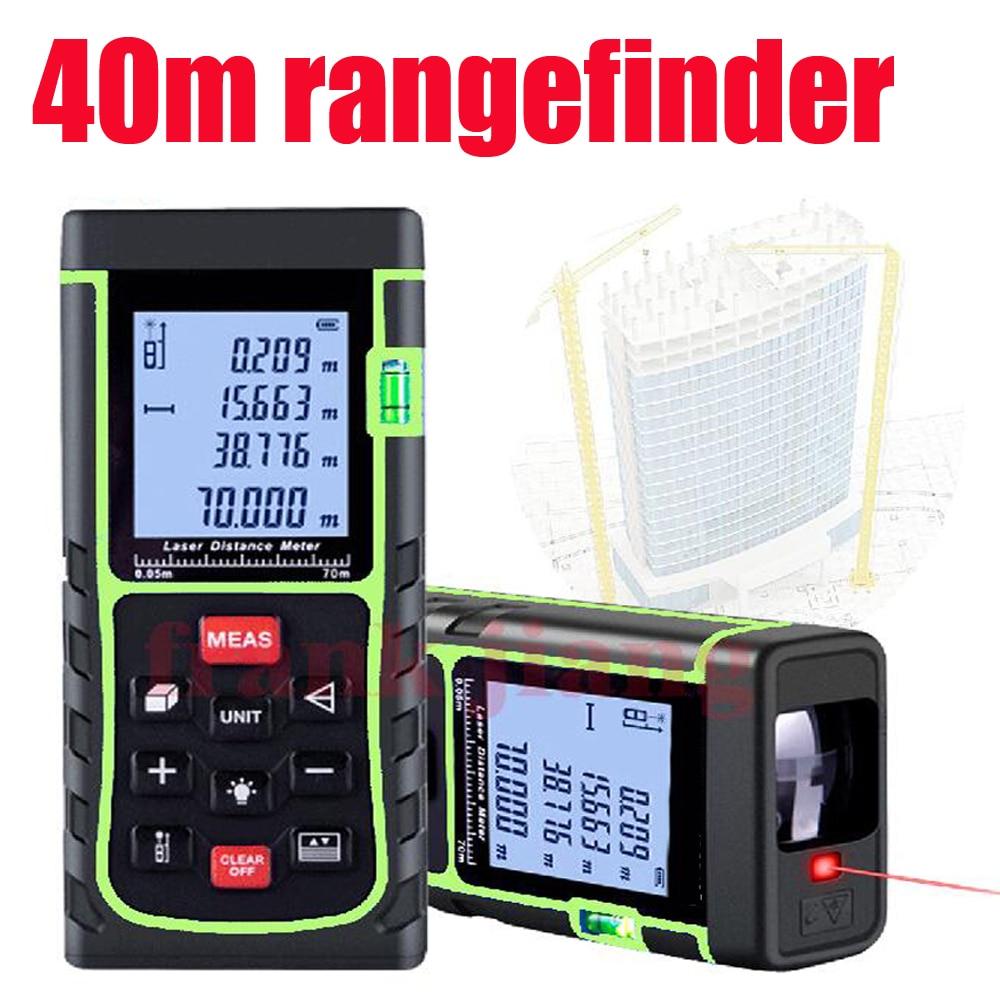 Handheld Rangefinder/Laser Tape Measure 40M inc. Area/volume/Angle