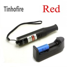 Best price Tinhofire Powerful Laser red 532nm 10000m  Bottle RED Laser Pointer Pen+ 1* 16340 1200mah Battery+ Charger