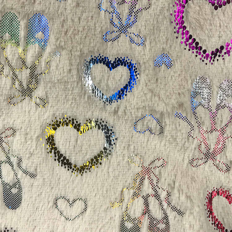 Stock PV velours feuille tissu coussin oreiller maison textile jouet mode tissu multicolore en option