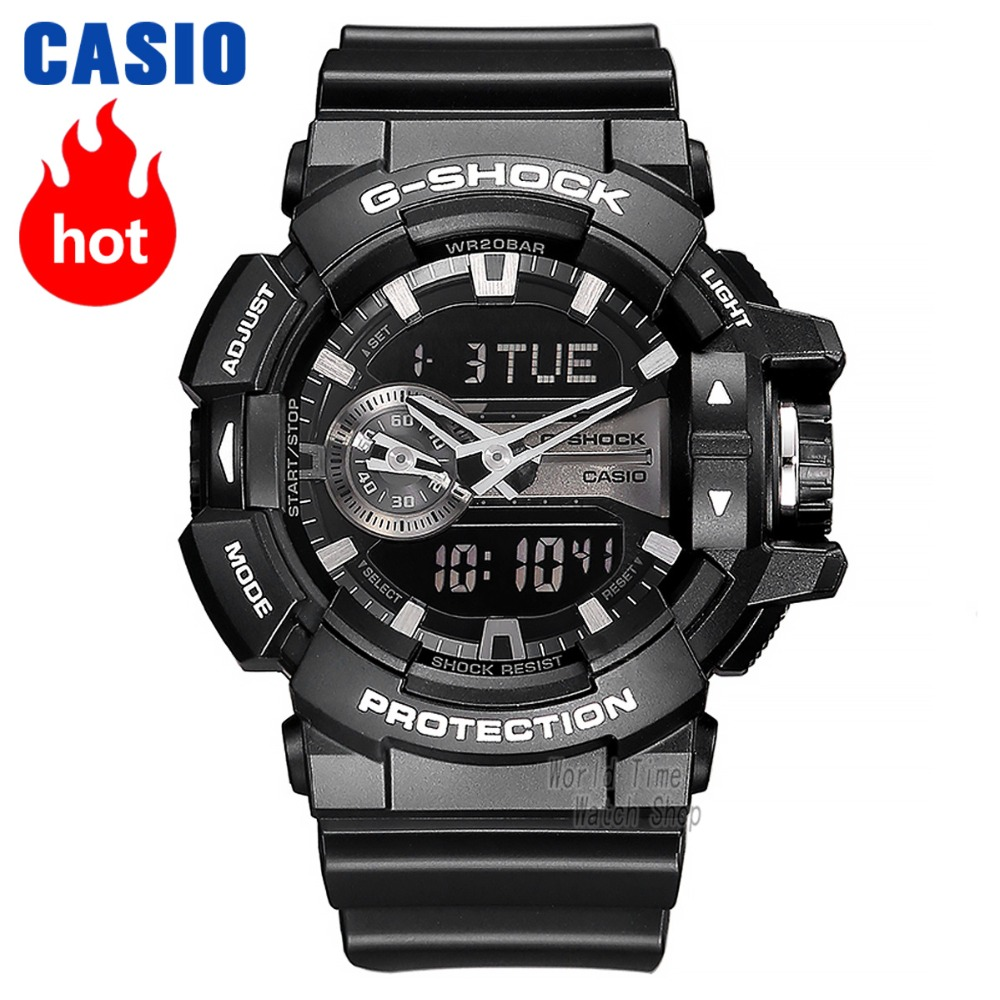 Casio watch G-SHOCK Men's Quartz Sports Watch Network Top Selling Small black watch outdoor g shock Watch GA-400GB