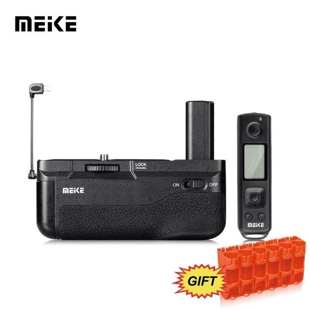 Meike ใหม่ MK A6500 แบตเตอรี่ Pro ในตัวรีโมทคอนโทรล 2.4GHZ ในแนวตั้งสำหรับ Sony a6500 กล้อง