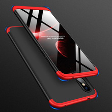 For Xiaomi Redmi Note 7 Case 3 in 1 Full Protective Armor Case For Xiaomi Redmi Note7 Pro Hard Back Cover With Tempered Glass for redmi note 7 6 pro case luxury hard tempered glass fashion marble protective back cover case for xiaomi mi 9 full cover