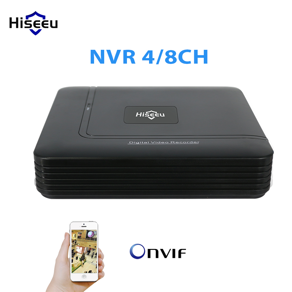 Mini NVR Full HD 4/8CH Channel Security CCTV NVR 1080P 4CH ONVIF 2.0 For IP Camera System 1080P H.264 video recorder Hiseeu mini hd cctv nvr 8ch video recorder onvif 8 channel h 264 network nvr for 720p 1080p ip camera surveillance system best price