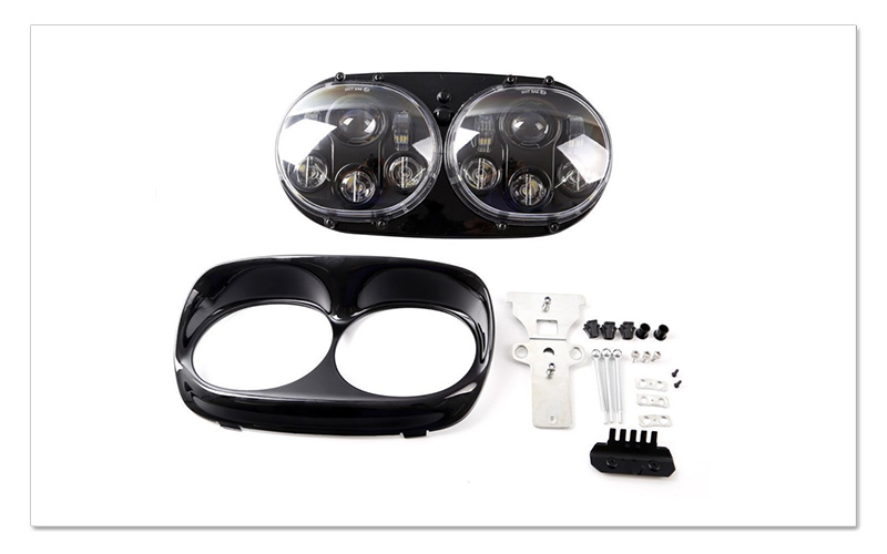 5.75 inch LED Motorcycle Headlight 5-34 Daymaker Projector Dual LED Headlight for Harley Davidson Road Glide 2004-2013 (3)