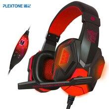 PLEXTONE PC780 Wired Gaming Auricular Auriculares Gamer Headset Sonido Estéreo con Micrófono LED Cable de Audio para PC Gamer